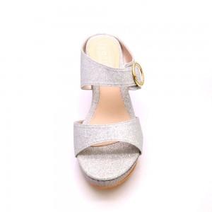 Slip On Glitter Wedges