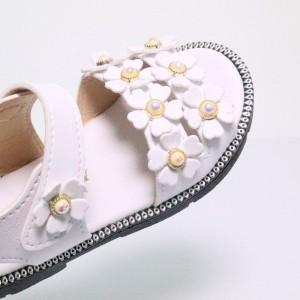 (White) Cute Little Flower Girl Children Sandal