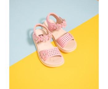 (Pink) Flower Sandal For Children