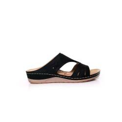 [Plus Size] Ladies Sandal Black-836131W1
