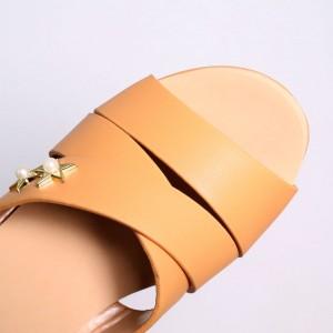 Ladies Wedges Sandal [Camel]
