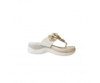 Ladies Sandals  White Flower