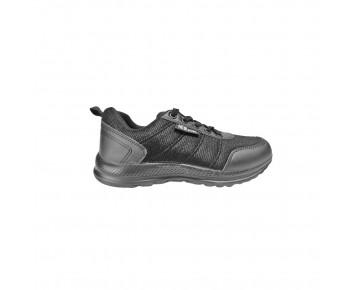 Black synthetic school shoe (192-NEW727)