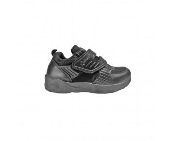 Black synthetic school shoe (191-S3971B)