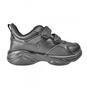 Black Synthetic School Shoe( 194-W517B)