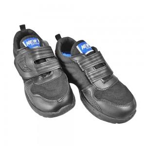 Black Synthetic School Shoe (VS120 (18)